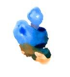 Blauer abstrakter Kreis auf dem weißen Hintergrund Stockbild