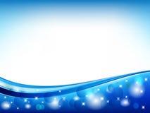 Blauer abstrakter Kreis-Vektor Lizenzfreie Stockfotos