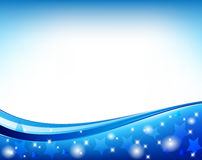 Blauer abstrakter Kreis-Vektor Stockbild