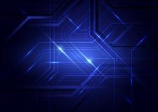 Blauer abstrakter Leiterplattehintergrund Lizenzfreies Stockbild