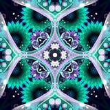 Blauer abstrakter mit Blumenhintergrund Stockbild