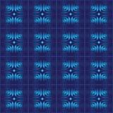 Blauer abstrakter nahtloser vektorhintergrund Stockfotos