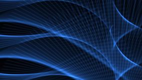 Blauer abstrakter Netz-Hintergrund kurvt, Linien und Wellen stock footage