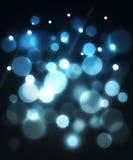Blauer abstrakter Optikhintergrund der Faser. Stockbild