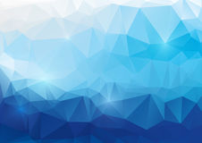 Blauer abstrakter polygonaler Hintergrund Stockfoto