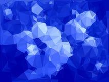 Blauer abstrakter polygonaler Hintergrund Stockfotografie