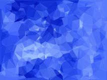 Blauer abstrakter polygonaler Hintergrund Lizenzfreie Stockfotografie