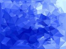 Blauer abstrakter polygonaler Hintergrund Stockbilder