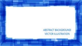 Blauer abstrakter quadratischer Hintergrund Lizenzfreies Stockfoto
