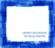 Blauer abstrakter quadratischer Hintergrund für Ihre Darstellung Lizenzfreies Stockfoto