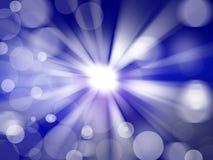 Blauer abstrakter radialhintergrund Stockfotos