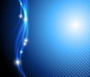 Blauer abstrakter stilvoller Fantasiehintergrund Lizenzfreie Stockbilder