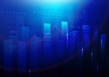 Blauer abstrakter Technologiehintergrund Börsehintergrund Lizenzfreies Stockbild