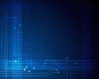 Blauer abstrakter Technologiestromkreishintergrund Lizenzfreie Stockfotografie