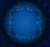 Blauer abstrakter Technologiestromkreishintergrund Stockfotos