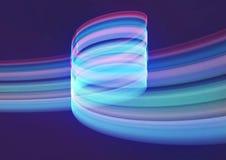 Blauer abstrakter Wellen-Hintergrund Stockfotos