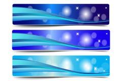 Blauer abstrakter Wellen-Vektor Stockfotografie