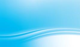 Blauer abstrakter wellenförmiger Hintergrund Lizenzfreie Stockbilder