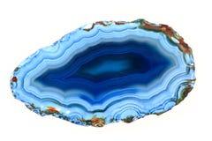 Blauer Achat lokalisiert Stockbild