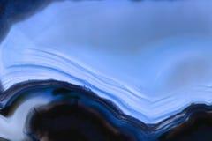Blauer Achatedelsteinhintergrund (Makro-, Detail) Stockbild