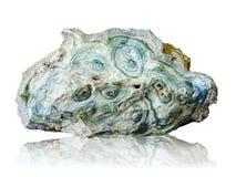 Blauer Achatstein lokalisiert auf weißem Hintergrund Lizenzfreies Stockbild