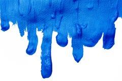 Blauer Acrylhintergrund mit Tropfenfängern Lizenzfreie Stockfotos