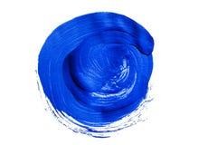 Blauer Acrylkreis Stockfoto