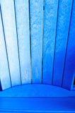 Blauer adirondack Stuhl Lizenzfreies Stockbild