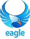 Blauer Adler lizenzfreie abbildung
