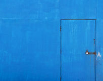 Blauer alter Tür-Hintergrund Stockfoto