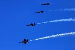 Blauer Angel Airshow an den Rotkehlchen AFB Stockbild