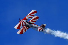 Blauer Angel Airshow an den Rotkehlchen AFB Stockfoto