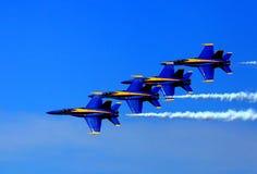 Blauer Angel Airshow an den Rotkehlchen AFB Stockbilder