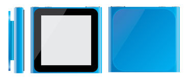 Blauer Apfel iPod Nano 2010 Lizenzfreies Stockbild