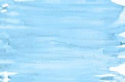 Blauer Aquarellhintergrund Schöne Beschaffenheit Stock Abbildung