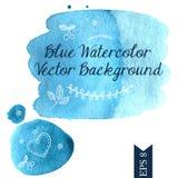 Blauer Aquarellvektorhintergrund Lizenzfreie Stockbilder