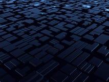 Blauer ausländischer Aufbau der Fantasie Stockbild