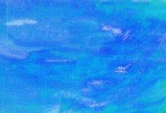 Blauer Auszug gemalt stockfotografie