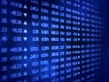Blauer Börseen-Börsentelegraf-Vorstand Stockfotos