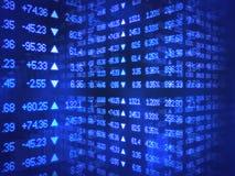 Blauer Börsentelegraf-Zickzack Lizenzfreie Stockbilder