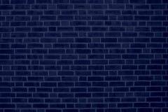 Blauer Backsteinmauer-Hintergrund Stockfotos