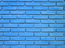 Blauer Backsteinmauerbeschaffenheitshintergrund Lizenzfreie Stockfotos