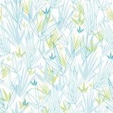 Blauer Bambus verzweigt sich nahtloser Musterhintergrund Stockbilder