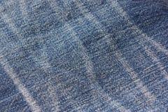 Blauer Baumwollstoff Lizenzfreies Stockbild