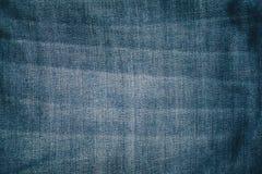 Blauer Baumwollstoffbeschaffenheitshintergrund Stockfotografie