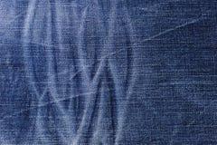 Blauer Baumwollstoffgewebe-Designhintergrund Stockbilder