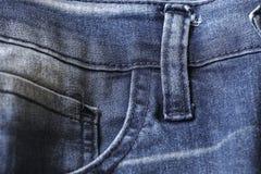 Blauer Baumwollstoffhintergrund und -beschaffenheit Lizenzfreie Stockfotografie