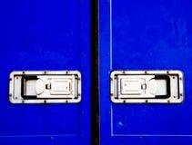 Blauer Behälter Stockfoto