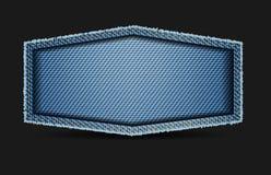 Blauer Beschaffenheitshintergrund der Vektoraufkleberjeans stock abbildung