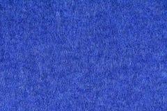 Blauer Beschaffenheitshintergrund des woolen Gewebes, Abschluss oben Stockbild